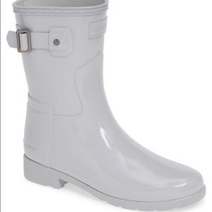 NEW Hunter Refined Gloss Short Boots Size 8